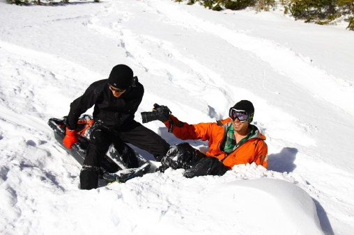 One of the many sledder-photographer collisions.