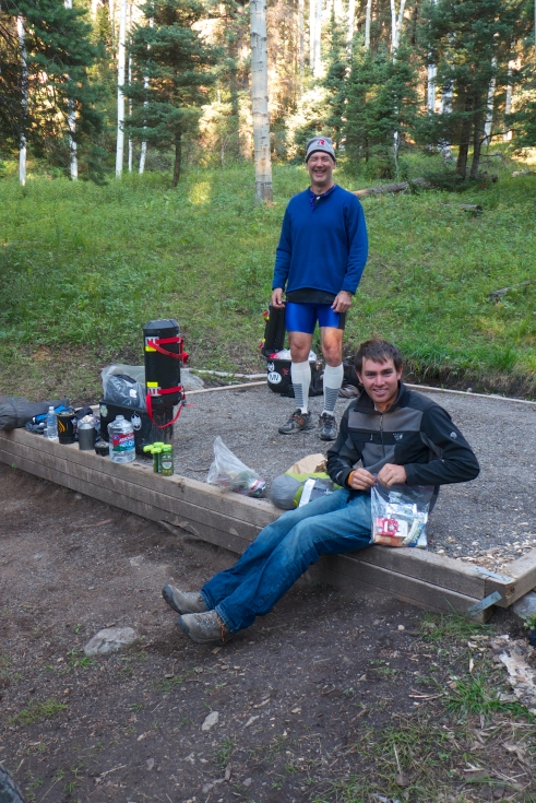 Setting up camp outside of Ouray